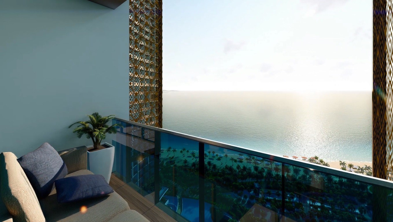 View từ căn hộ Sunbay Park Phan Rang Ninh Thuận